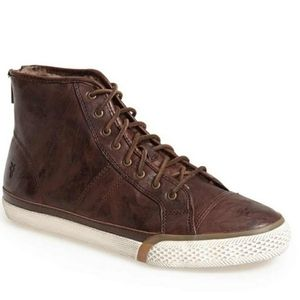 Frye Shearling Lined High Top Sneakers